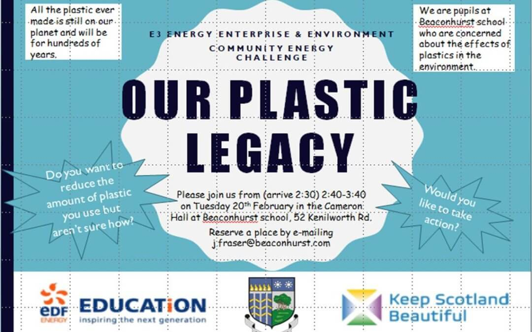 Beaconhurst School Pupils 'Plastic Legacy' Focus Group