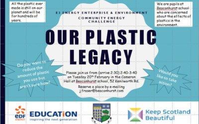 Beaconhurst School Pupils 'Plastic Legacy' Focus Group