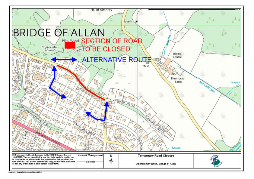 Road Closure Notice – Abercromby Drive