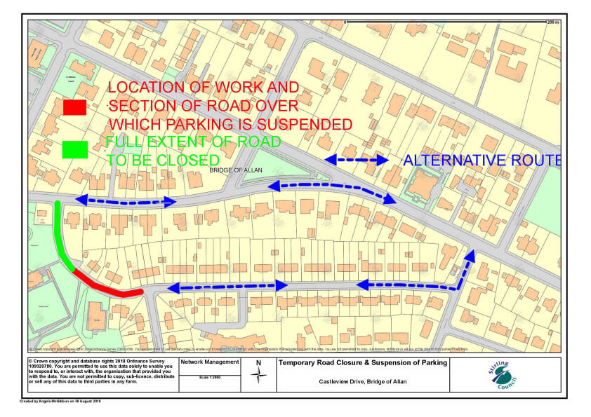 Castleview Drive Road Closure 24/9 to 1/10
