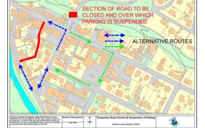 Road Closure – Queens Lane 1/10 to 8/10