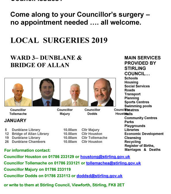 Elected Councillor Surgery dates