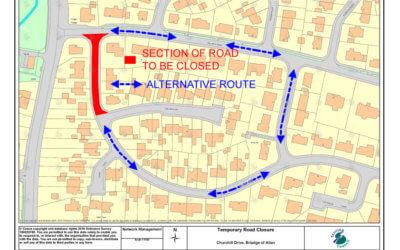 Notice of Temporary Road Closure – Churchill Drive