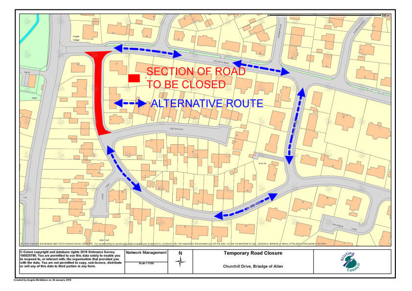 Notice of Temporary Road Closure – Churchill Drive