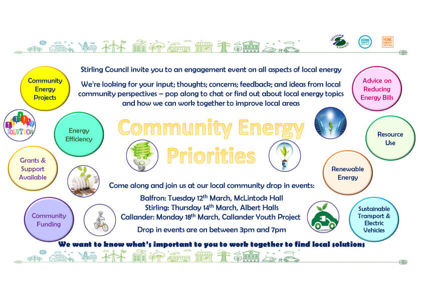 Community Energy Priorities – Drop In Events March 2019