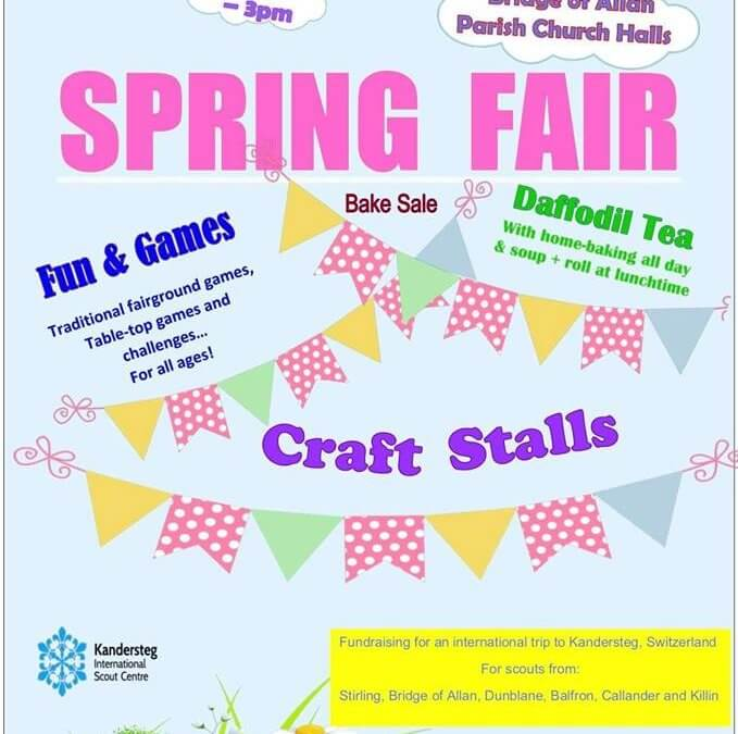 Local Scout Troop Spring Fayre – 30th March