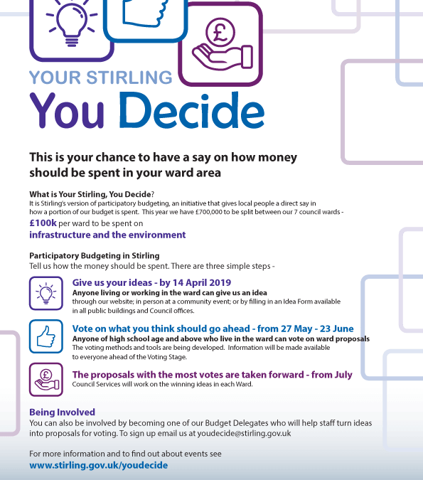 Your Stirling: You Decide – Participatory Budgeting in Stirling