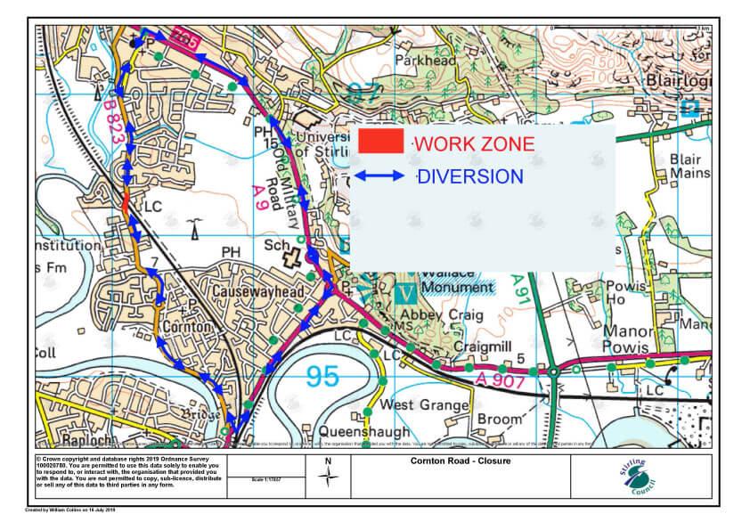 Notice of Temporary Road Closure – Cornton Road